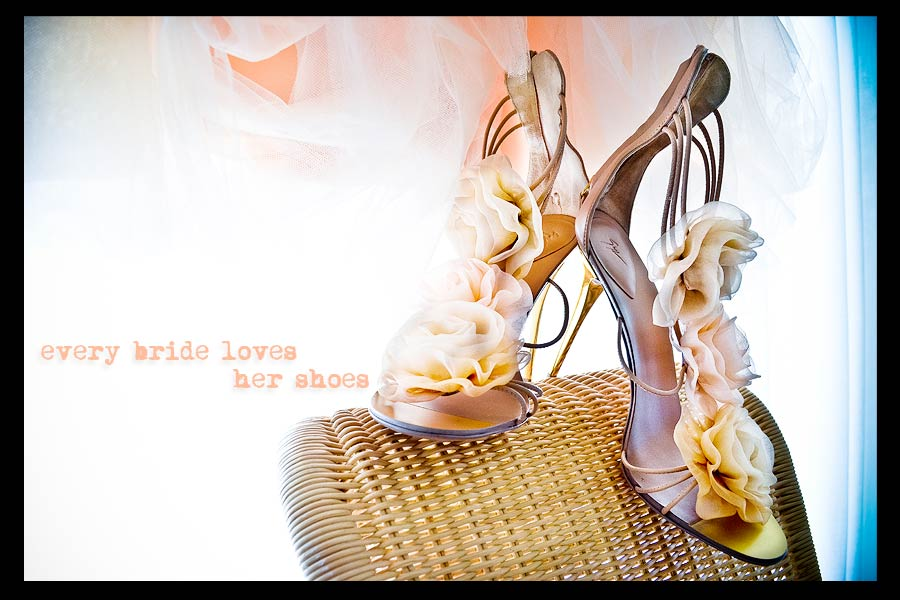 every bride loves her wedding shoes